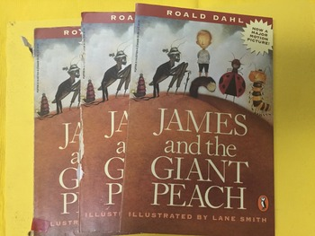 """""""James and The Giant Peach """" books, by Dahl- Literature Circle Set"""