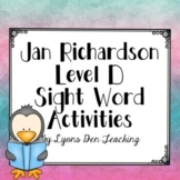 Jan Richardson No Prep Digital Level D Sight Word Activities