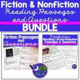 Fiction/Nonfiction Reading Comprehension Passages and Questions Bundle