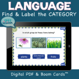 Categories Expressive & Receptive NO PRINT PDF & Boom Card