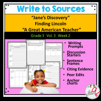 """""""Jane's Discovery"""",Finding Lincoln """"A Great American Teacher"""" Writing"""
