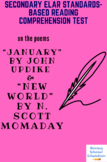 """""""January"""" by John Updike & """"New World"""" by N. Scott Momaday Poetry Reading Test"""