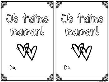 {Je t'aime maman!} A ready-to-print Mother's Day keepsake booklet