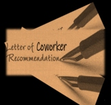Recommendation Letter (Co-Worker or Community Service) {EDITABLE)