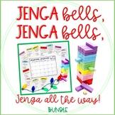 ELA and Math Jenga Games Bundle with Christmas and Winter Holiday Theme