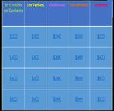 """""""Jeopardy"""" Realidades 1 3B: Comida en Contexto, Verbos, Opinion, Vocab, Sorpresa"""