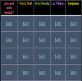 """""""Jeopardy"""" Realidades 2 2B for Power Point and Google Driv"""