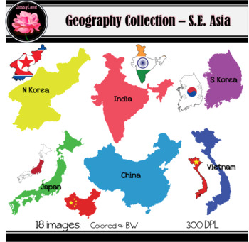 {Jessylane} Country Collection - South East Asia Clip Art