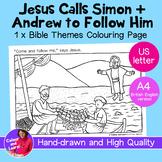 """Jesus Calls Disciples Fishing"" Bible Coloring/Colouring P"