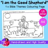"""Jesus The Good Shepherd"" Bible Coloring Sheet/Colouring Page (Christian/Church)"