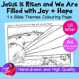 """""""Jesus is Risen"""" Easter Bible Coloring Sheet/Colouring Page (Christian/Church)"""