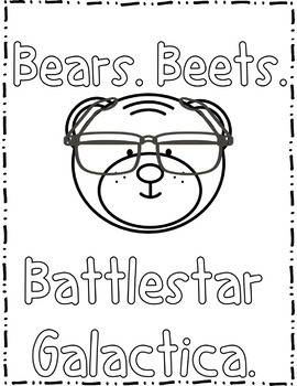 (Jim and Dwight) The Office Inspired Coloring Pages Freebie