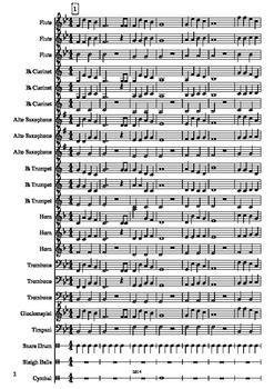 """""""Jingle Bells"""" Mixed-Level Beginner Band Arrangement"""