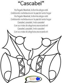 """""""Jingle Bells"""" in Spanish! (Song & Coloring Page)"""