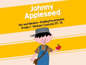 'Johnny Appleseed' Wit and Wisdom PowerPoints (Module 2 Lessons 20-25)