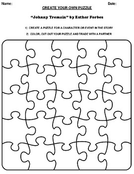 """""""Johnny Tremain"""" by Esther Forbes Create your Own Puzzle ..."""