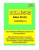 Genesis Bible Study  (Chs. 1-5)  - No Prep with Teacher's