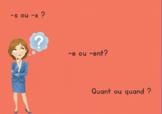 [Jour 2] -s ou -x // -e ou -ent // quant  ? (5 exercices +