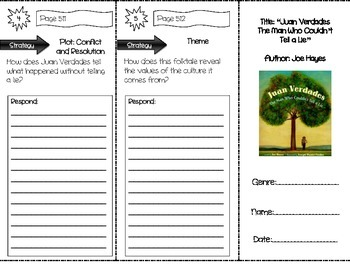 """Juan Verdades Couldn't Tell a Lie"" Comprehension Trifold (Storytown Lesson 19)"