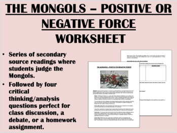 """Judging the Mongols"" - Genghis Khan - Global/World History"