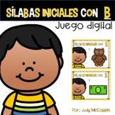 *Juego Digital* Sílabas iniciales con B