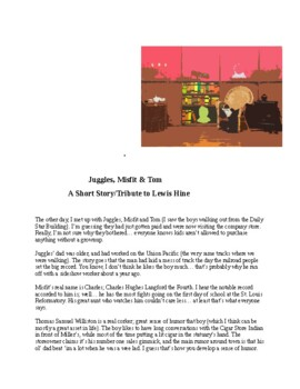 """""""Juggles, Misfit &Tom"""" A Short Story Tribute to Lewis Hine"""