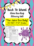 """Juice Box Bully"" NO PREP Fiction Close Reading Plans - 4th-6th Grades"