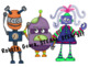Robots and Gears Clipart Set Hand Drawn