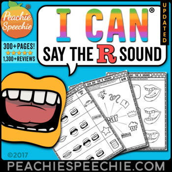 I Can Say The R Sound Articulation Workbook By Peachie Speechie