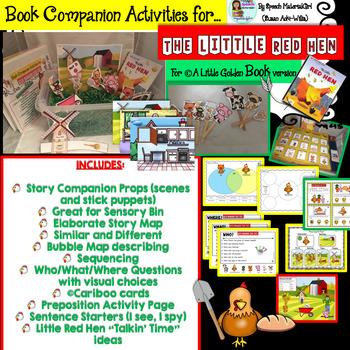Speech Therapy The Little Red Hen Little Golden Book version BOOK COMPANION