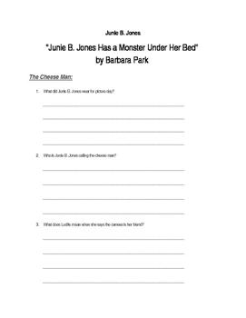"""Junie B. Jones Has a Monster Under Her Bed"" by Barbara Park"