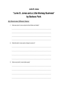 """""""Junie B. Jones is a Beauty Shop Guy"""" by Barbara Park"""