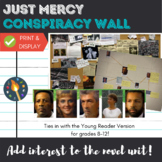 """Just Mercy"" Conspiracy Wall Activity & Display for Read A"