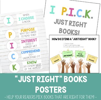 """""""Just Right"""" Book Posters"""