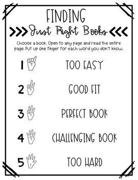 """""""Just Right"""" Books Note Pages"""
