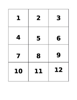 """""""Just the Facts"""" Multiplication Fact Game"""