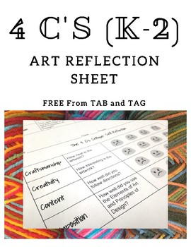 (K-2) 4 C's Art Self-Reflection - TAB