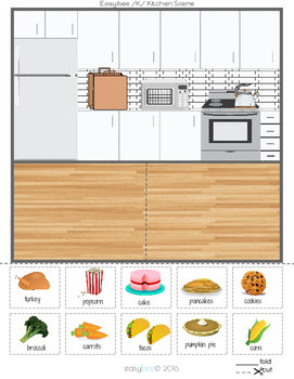 /K/ Articulation Sentences Kitchen Cupboard Scene