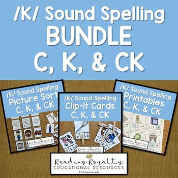 /K/ Sound Spelling Bundle: C, K, CK