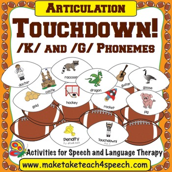 /K/ and /G/ Phonemes - Touchdown!