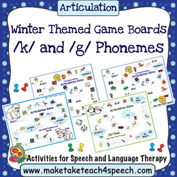 /K/ and /G/ Phonemes - Winter Themed Game Boards
