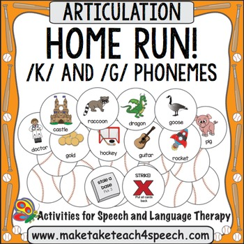 /K/ and /G/ Phonemes - Home Run!