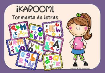 ¡KABOOM! Tormenta de letras