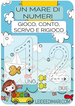 NUMBERS PLAY CARD-ERASE CARD-#KITGIOCO N°3_VERSIONE ITALIANA E INGLESE