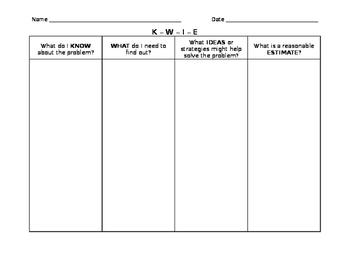 """KWIE"" Math Problem Solving Strategy"