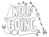 'Keep Going' Coloring Page