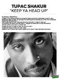 """Keep Ya Head Up"" Tupac Close Reading (Distance Learning)"