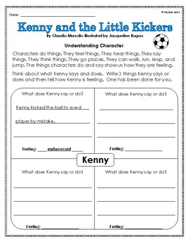 """""""Kenny and the Little Kickers"""" Activities for Reading, Writing, & Comprehension"""