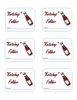 """Ketchup"" Folder Labels for Absent Students"