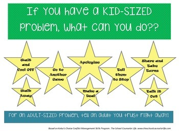 """""""Kid-Sized"""" Problem Choice Poster"""